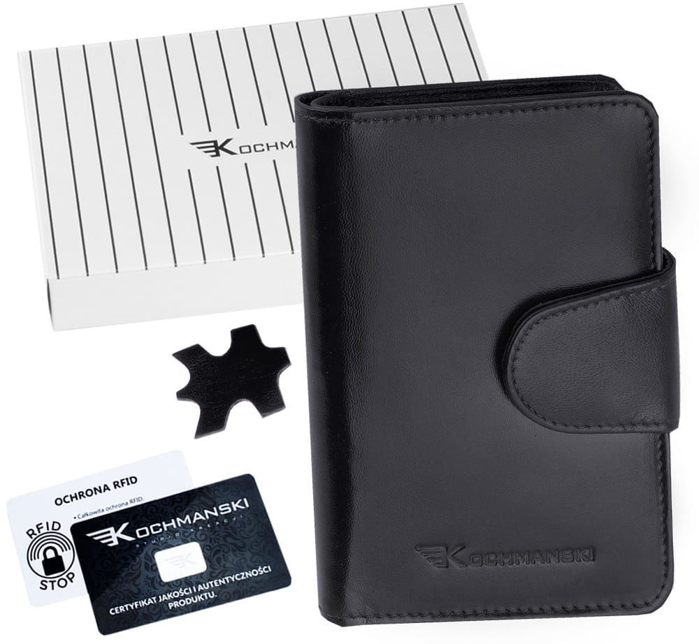 KOCHMANSKI portfel damski skórzany mały 4322