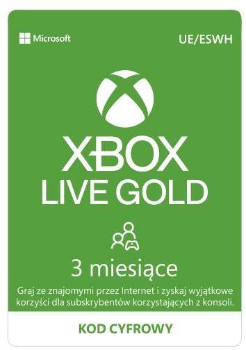 Subskrypcja Xbox Live Gold (3 m-ce) [kod aktywacyjny] Dostęp po opłaceniu zakupu