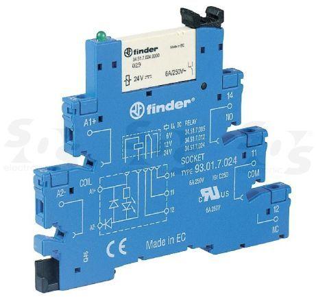 Przekaźnikowy moduł sprzęgający Finder 38.51.7.048.4050 Moduł sprzęgający, przełączny 1CO (SPDT) 6 A AgSnO2 48 V DC wykonanie czułe, tylko dla (6, 12, 24, 48, 60V) Finder 38.51.7.048.4050