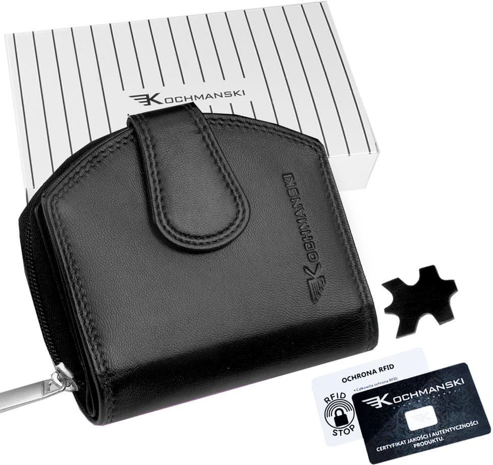 KOCHMANSKI portmonetka portfel damski skórzany mały 4324