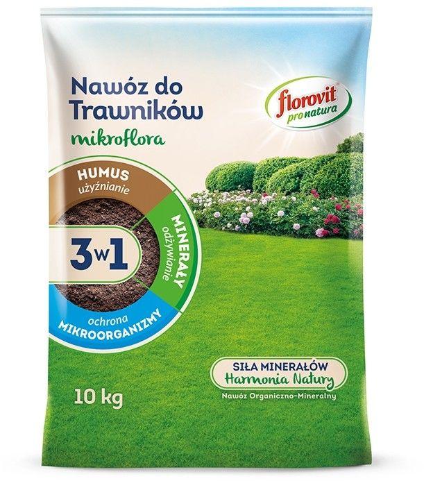 FLOROVIT PRO NATURA MIKROFLORA 3w1 DO TRAWNIKÓW 10 KG