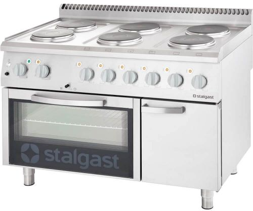 Kuchnia Elektryczna 6-Polowa 15,6 kW z Piekarnikiem Elektrycznym 7 Kw 400 V i Szafką