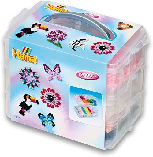 Hama Perlen 6752 Midi koraliki do prasowania, zestaw prezentowy, kolorowe