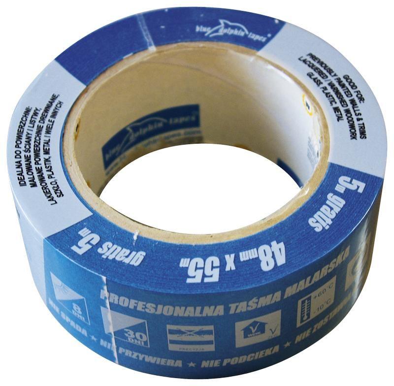 Taśma ochronna dla Profesjonalistów niebieska Blue Dolphin MT-PG 48mm/50 mb