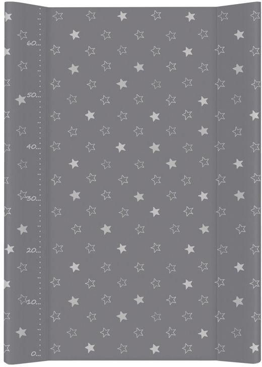 MAMO-TATO Przewijak na łóżeczko usztywniony 50x70 Gwiazdki ciemnoszare