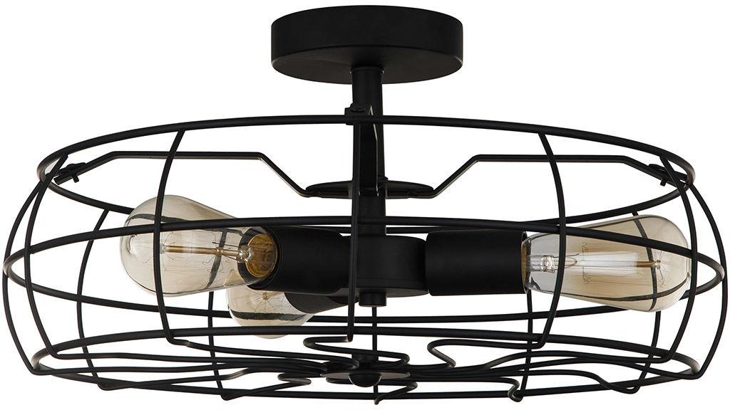 Italux plafon lampa sufitowa Rayo MXM-2580/3 BK czarna druciana 45cm