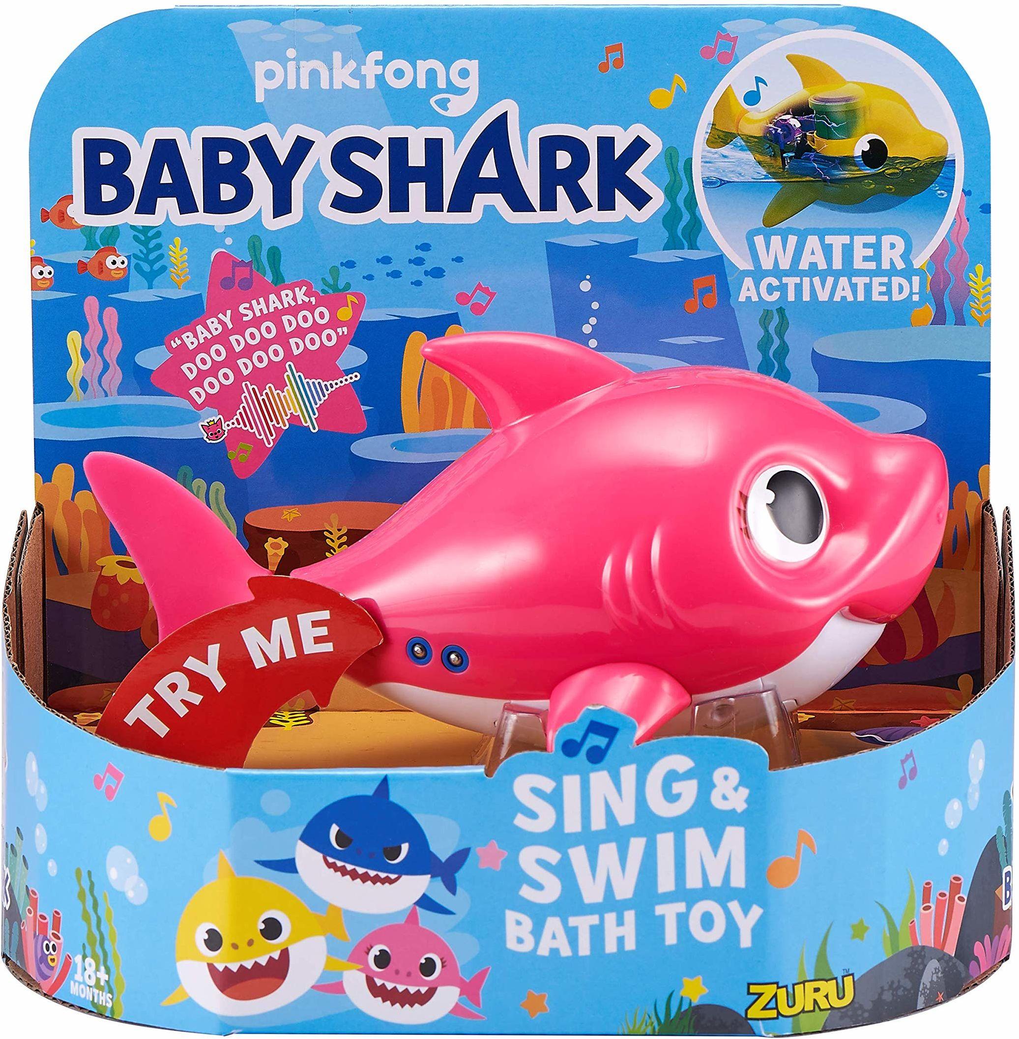 Robo Alive Junior Mommy rekin zasilana baterią zabawka do śpiewania i pływania od Zuru