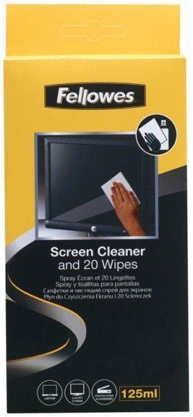 Płyn FELLOWES do czyszczenia ekranów + ściereczki - X01796