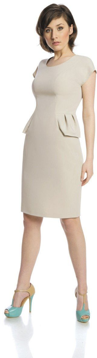 Sukienki Sukienka Suknie FSU367 BEŻOWY