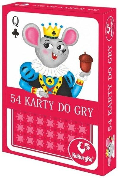 Karty do gry 54 Junior - Kukuryku