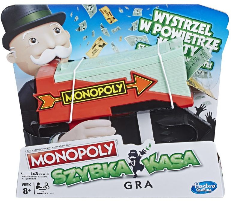 Gra Hasbro E3037 Monopoly Szybka Kasa