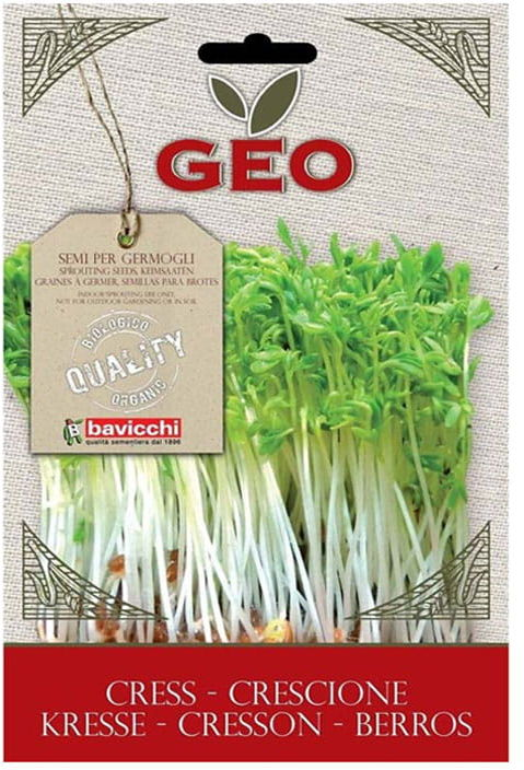 Bio nasiona na kiełki rzeżuchy