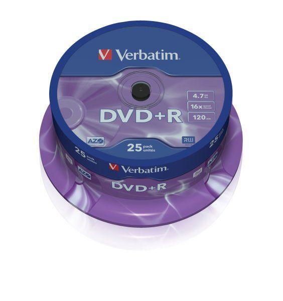 Płyta DVD+R VERBATIM CAKE BOX 25 szt. - X03658
