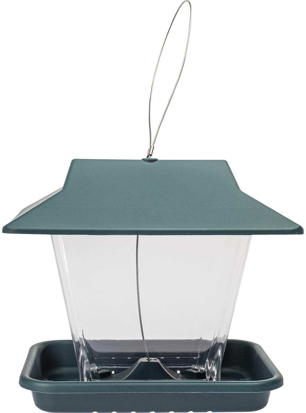 Plastikowy karmnik dla ptaków zielony,19,5x14,5cm