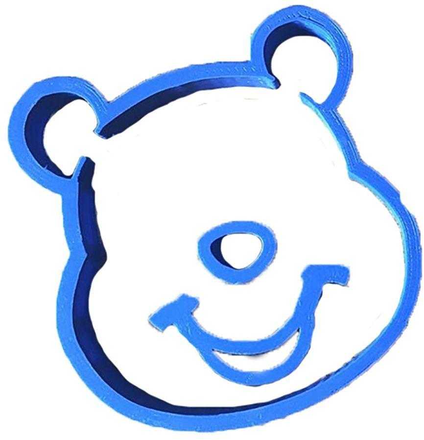 cuticuter Winnie the Pooh krajalnica do masy cukrowej, niebieska, 8 x 7 x 1,5 cm