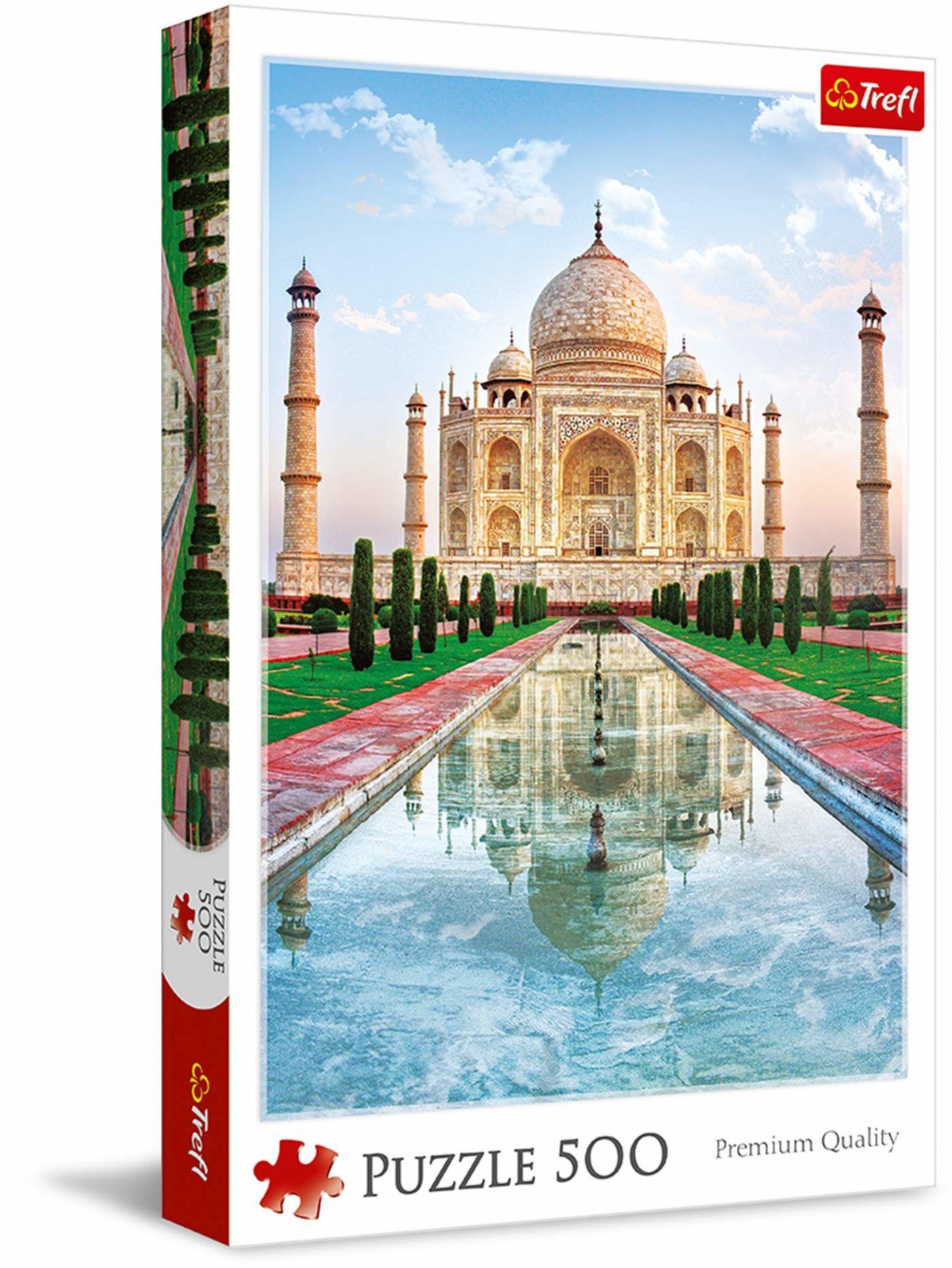 Trefl Taj Mahal Puzzle 500 Elementów o Wysokiej Jakości Nadruku dla Dorosłych i Dzieci od 10 lat