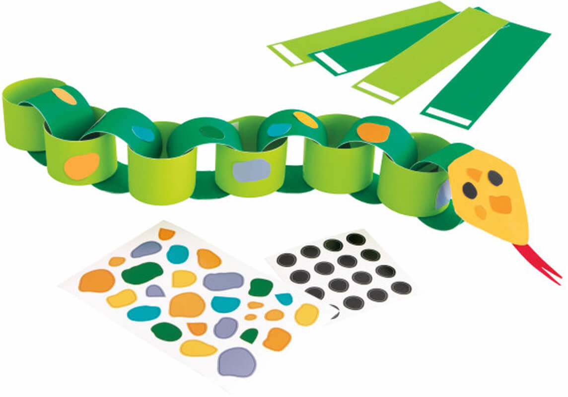 Zestaw do tworzenia łańcuchów papierowych dla 4 osób - Wąż DIY