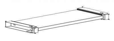 Półka wysuwana do szaf biurowych Sbm m 1200 mm Malow