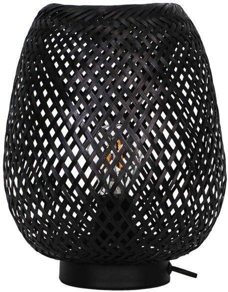 Lampa stołowa GoodHome Kasungu 1-punktowa E27 czarna / biała