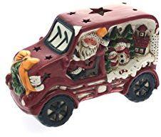 Viscio Trading 168363 samochód z diodami LED, ceramika, wielokolorowy, 23 x 9 x 14 cm