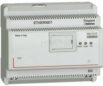 My Home - Web server IP do systemu hotelowego (ponad 100 pokoi) Legrand F458