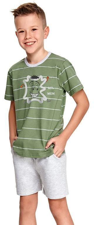 Piżama chłopięca Karlik zielona w