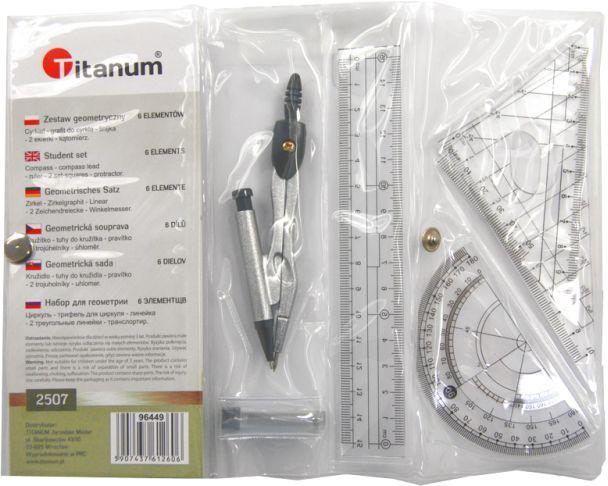 Zestaw geometryczny 6-elementowy Titanum 2507 96449
