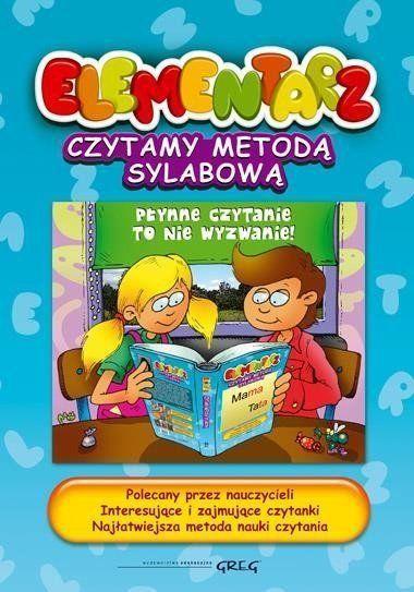Elementarz - czytanie metodą sylabową TW Greg - Alicja Karczmarska-Strzebońska