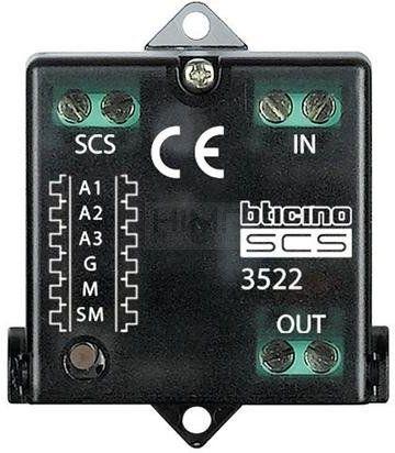 My Home - Interfejs licznika impulsowego WODA/GAZ Legrand 3522N