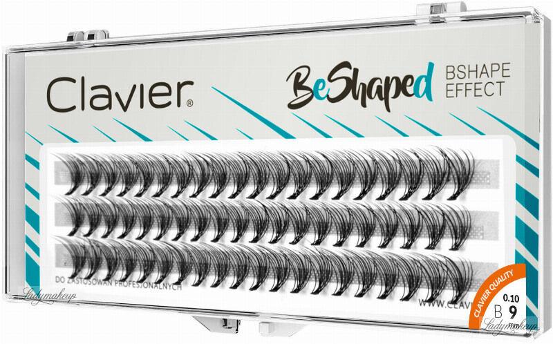 Clavier - BeShaped - Sztuczne rzęsy w kępkach typu B - 9 mm
