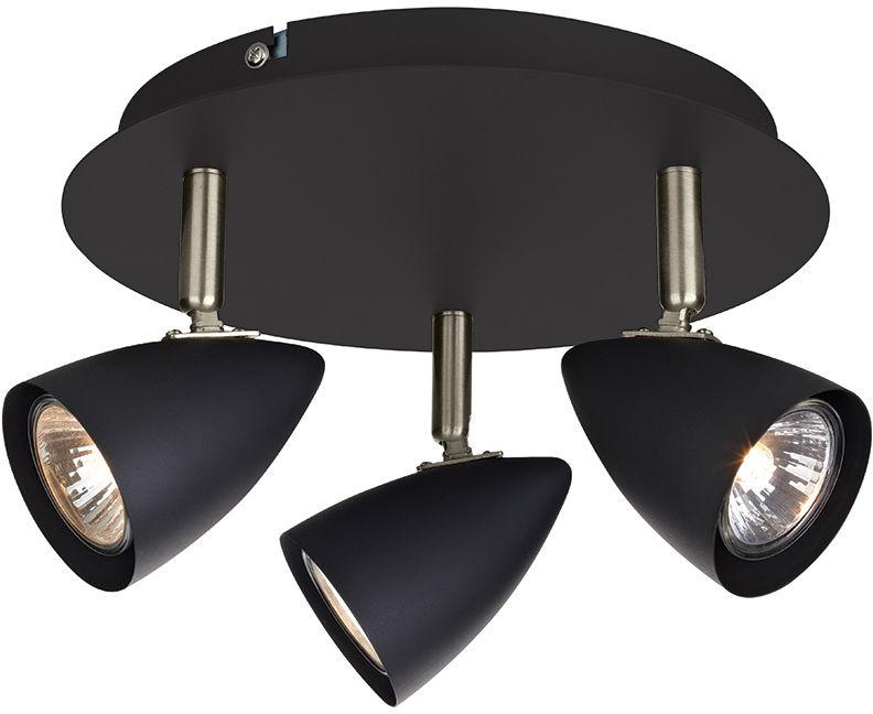 Markslojd lampa sufitowa plafon Ciro czarny 107411 26cm / 24h