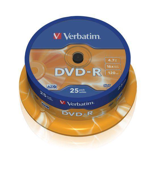 Płyta DVD-R VERBATIM CAKE BOX 25 szt. (G) - X03662