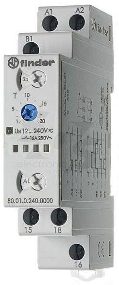 Przekaźnik czasowy 1CO 16A 12-240V AC/DC, Wielofunkcyjny AI, DI, SW, BE, CE, DE wykonanie TRAKCYJNE 80.01.0.240.0000T