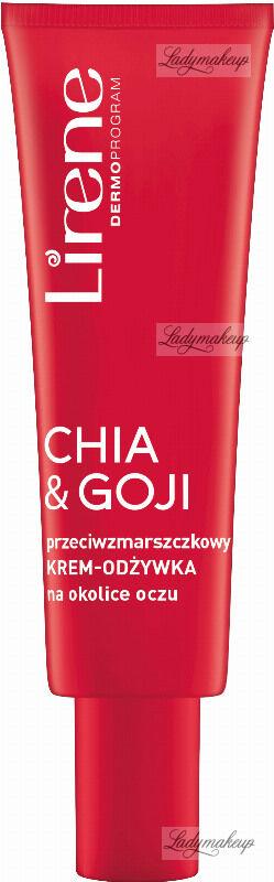 Lirene - SUPERFOOD FOR SKIN - CHIA & GOJI - Przeciwzmarszczkowy krem odżywka na okolice oczu - 15 ml