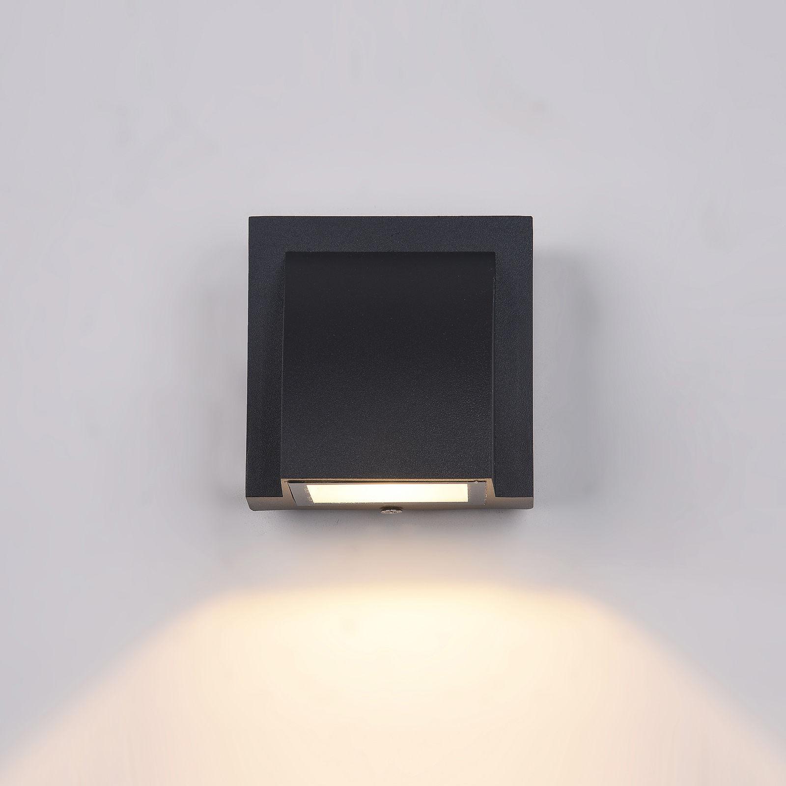Italux kinkiet lampa ścienna Edgar PL-436B IP54 czarna LED 3W 3000K