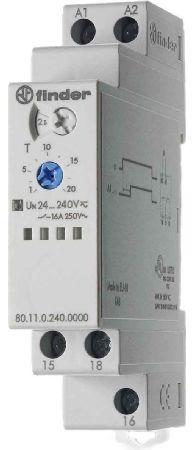 Przekaźnik czasowy 1CO 16A 24-240V AC/DC, Funkcja AI: opóźnione załączenie, wykonanie TRAKCYJNE 80.11.0.240.0000T