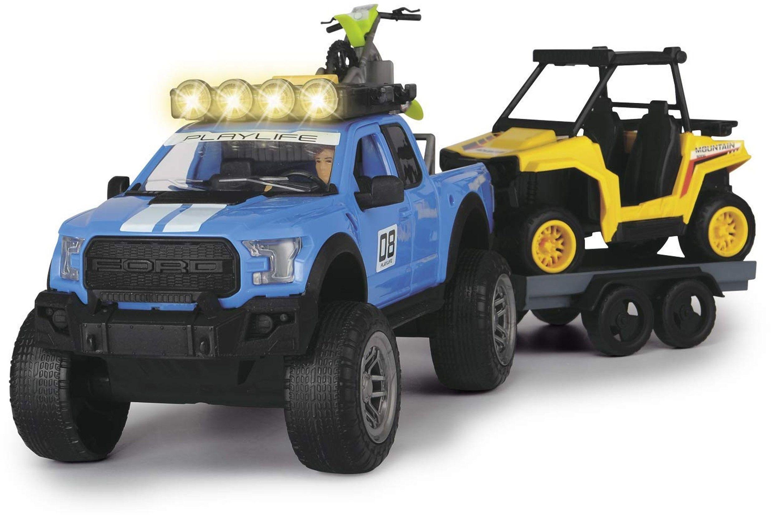 DICKIE Play Life Zestaw Offroad Samochód Ford Quad Motor