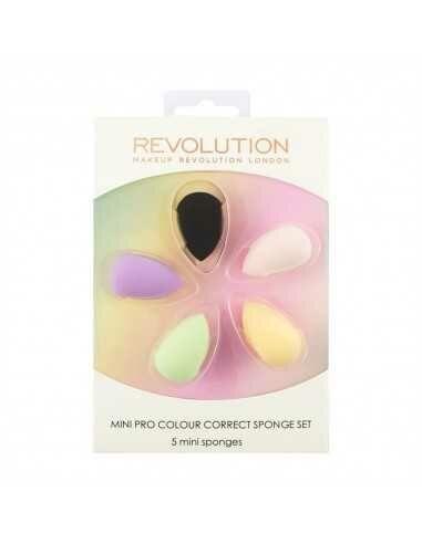 MakeUp Revolution Mini Pro Colour Correct Sponge Set zestaw mini gąbek do makijażu