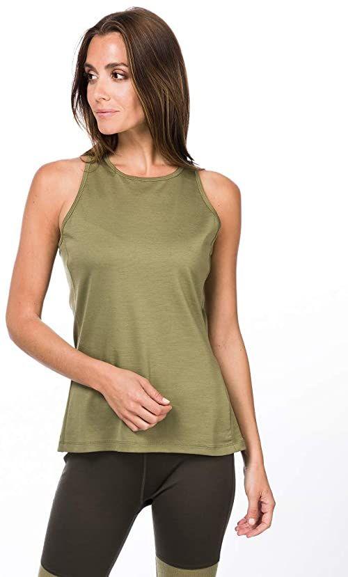 super.natural Damska koszulka z długim rękawem, z wełny merynosów, W JONSER LS zielony bambus XL