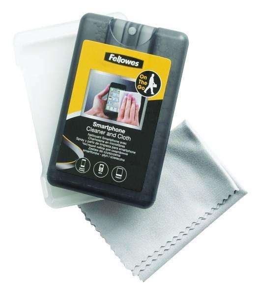 Zestaw do czyszczenia smartfonów FELLOWES płyn + ściereczka 20 ml - A0593