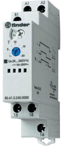 Przekaźnik czasowy 1CO 16A 24-240V AC/DC, BE: opóźnienie rozłączenia z sygnałem START, wykonanie TRAKCYJNE 80.41.0.240.0000T
