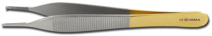 ZŁOTE ADSON PINCETA -12 cm Narzędzia medyczne 1x2 ząbki