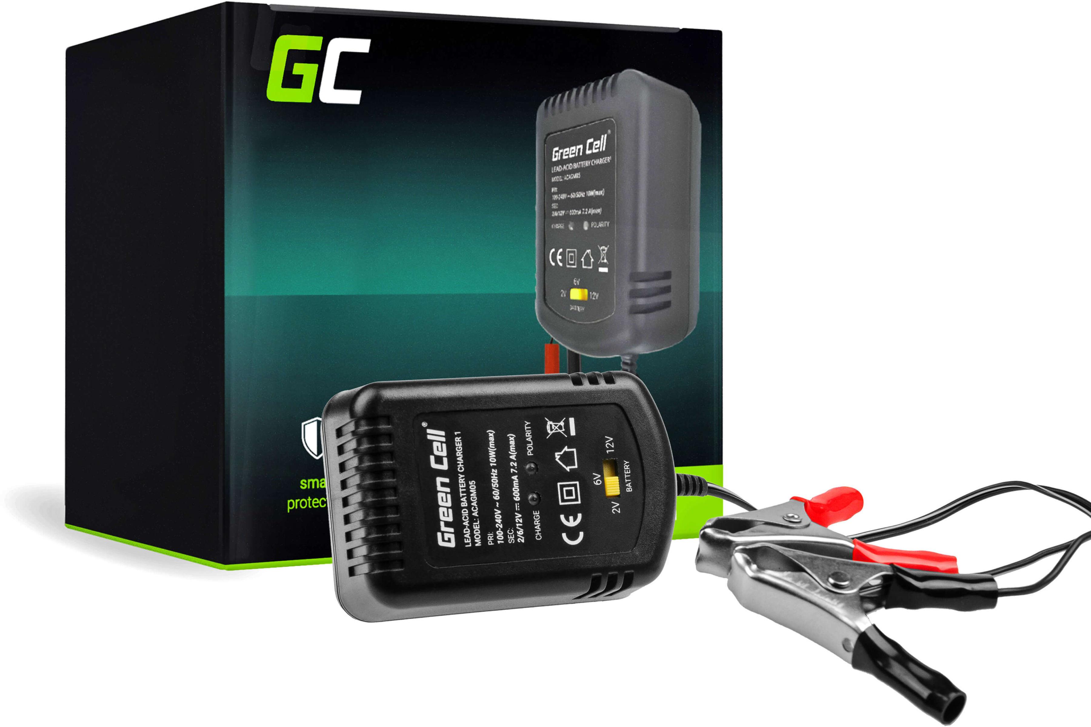 Ładowarka, Prostownik Green Cell do akumulatorów 2V / 6V / 12V (0.6A)