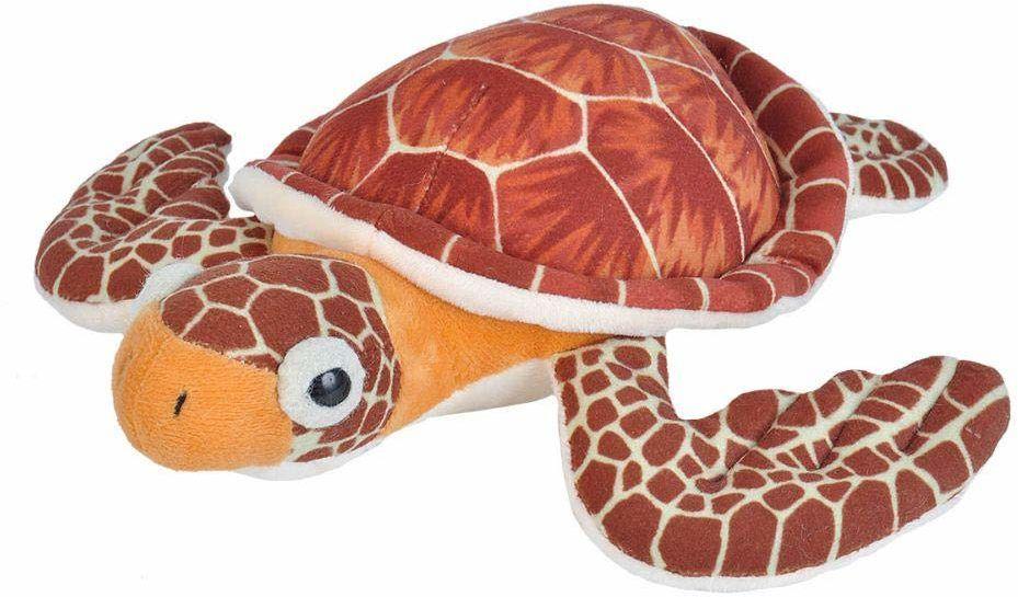 Wild Republic 21477 pluszowy żółw morski, Cuddlekiny, pluszowe zwierzątko, 20 cm