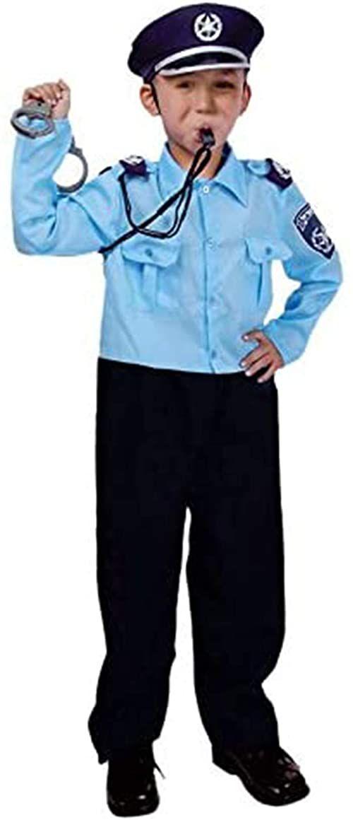 Dress Up America Kostium dla izraelskich urzędów policyjnych dla dzieci, 569-M, wielokolorowy, rozmiar 8-10 lat (talia: 76-82 wysokość: 114-127 cm)