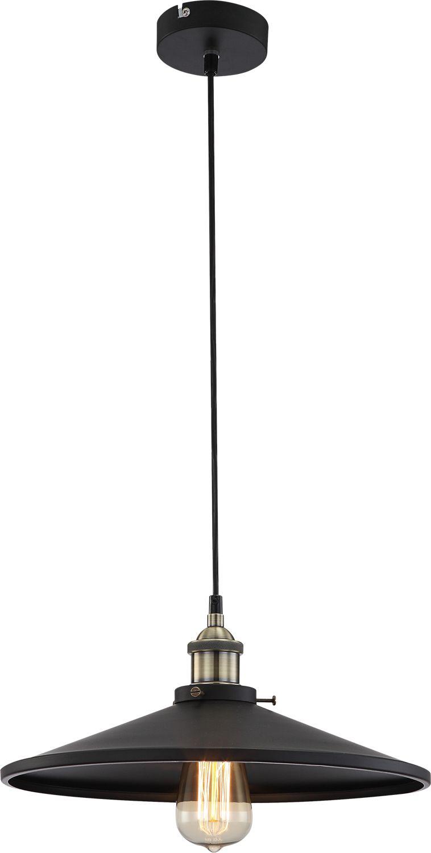 Globo lampa wisząca Knud 15060 czarna 36cm