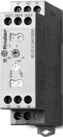Przekaźnik czasowy 2CO 16A 12-240V AC/DC, Wielofunkcyjny AI, DI, GI, SW,BE, CE, DE, WD 83.02.0.240.0000