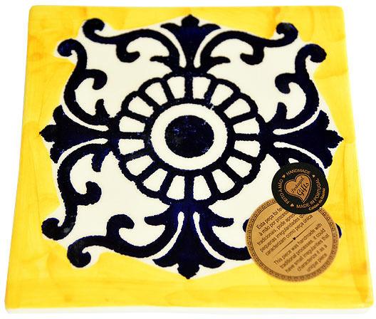 Kafelek / podstawka ceramiczna 15x15cm kolekcja AZULEJO DEC B