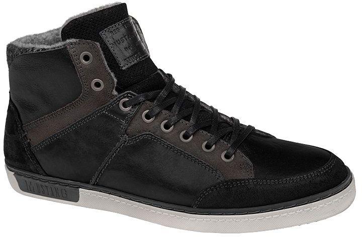 Trzewiki Sneakersy MUSTANG 35A042 4866-503-9 Schwarz Czarne zimowe