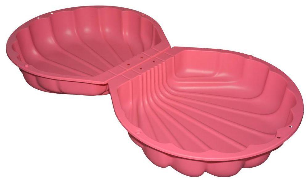Piaskownica plastikowa z pokrywą 176 x 88 x 21 cm SMOBY MUSZELKA różowa